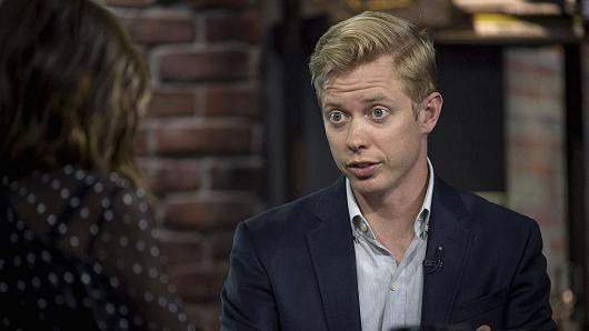 Steve Huffman, co-founder and chief executive officer of Reddit Inc., speaks during a Bloomberg Technology television interview in San Francisco, California, U.S., on Wednesday, Nov. 9, 2016.