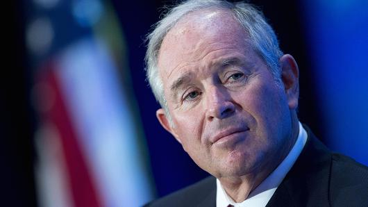 Stephen 'Steve' Schwarzman, co-founder, chairman and chief executive officer of Blackstone Group LP.