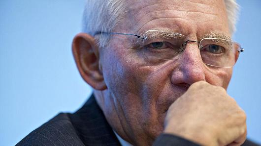 Wolfgang Schaeuble, Germany's finance minister