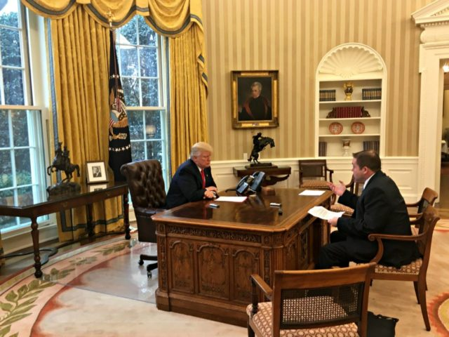 Trump, Boyle, Oval-White House Photo