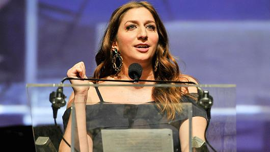 Actress and comedian Chelsea Peretti at the TechCrunch 10th Annual Crunchies Awards on February 6, 2017, in San Francisco.