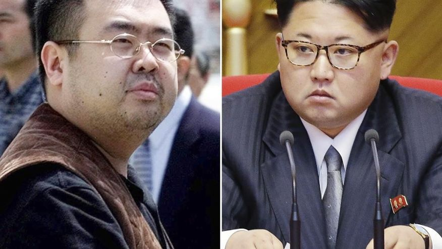 FILE - This combination of file photos shows Kim Jong Nam, left, exiled half-brother of North Korea's leader Kim Jong Un, in Narita, Japan, on May 4, 2001, and North Korean leader Kim Jong Un on May 9, 2016, in Pyongyang. The apparent assassination of the North Korean leader's estranged half-brother is strengthening bipartisan calls for the U.S. to re-list Pyongyang as a state sponsor of terrorism, a designation lifted nine years ago. Doing so would increase the country's isolation, while potentially complicating any future diplomacy to halt its nuclear and missile programs. (AP Photos/Shizuo Kambayashi, Wong Maye-E, File)