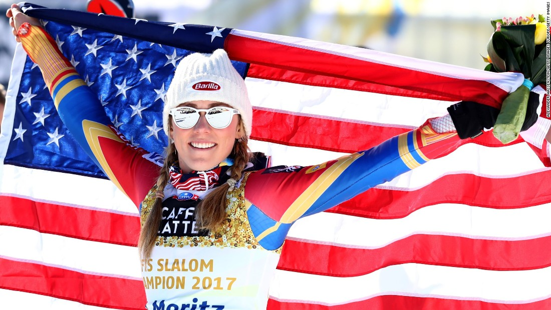 America's golden girl Shiffrin has enjoyed a storming season so far. She currently leads the overall female standings.