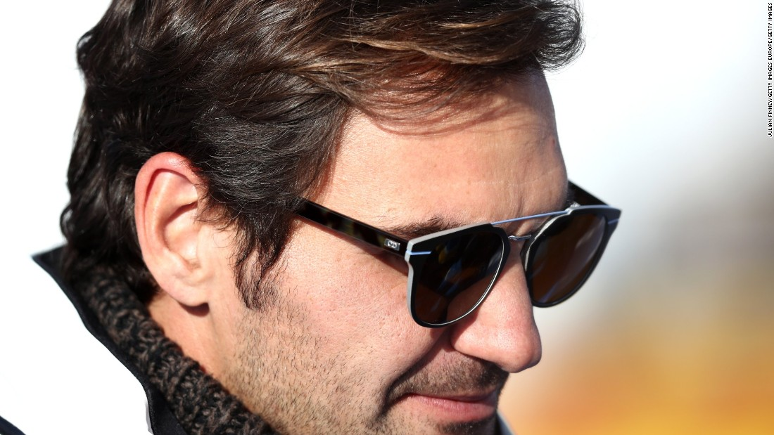 Tennis legend Roger Federer watched the men's downhill at the World Ski Championships in St. Moritz, Switzerland, his home country.