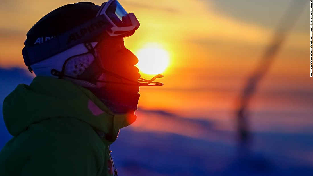 Spectacular sunsets were seen in Levi when the Lapland resort hosted the tour in November.