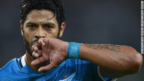 Brazil striker Hulk was the most expensive signing in Russian Premier League history.