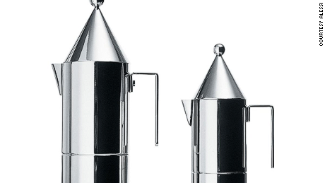 """La Conica,"" Aldo Rossi's first coffee maker for Alessi, designed in 1983"