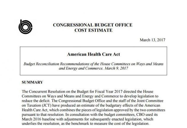 Gop Plan Would Insure 24m Fewer In U S Than Aca Over Decade Cbo