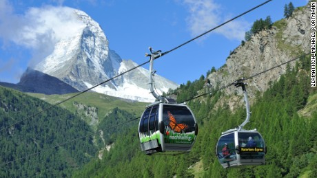 Historic Zermatt is a popular summer training base for international ski teams.