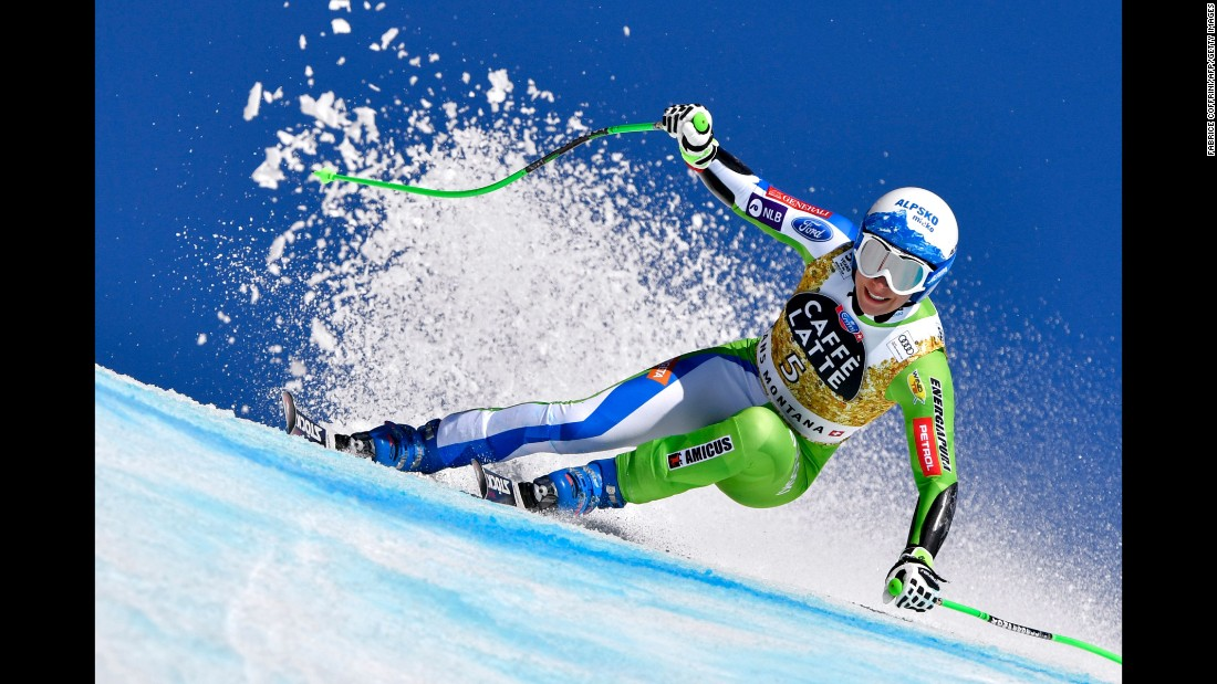 The Alpine Skiing World Cup traverses the globe in order to crown the world's best male and female downhill skiers. The 2017 championship kicked off in Austria in October and concludes in Aspen, US this month. With the finish line in sight, here are some of the finest images from the season.