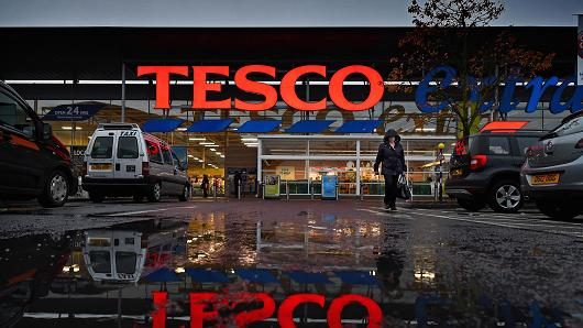 A general view of a Tesco supermarket in Glasgow, Scotland