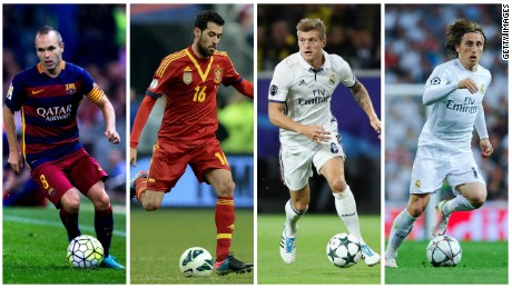 Xavi believes former teammates Iniesta and Busquets have the best vision in the world, but he also praises Real Madrid adversaries Toni Kroos and Luka Modric.
