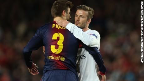 David Beckham and Gerard Pique are no stranger to the red carpet.