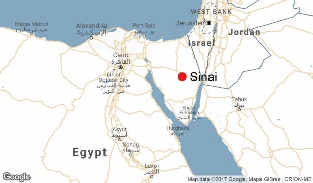 Locator Map: Sinai peninsula