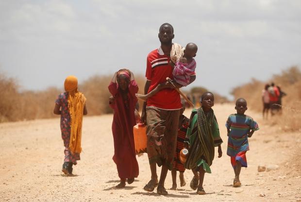 Somalis fleeing