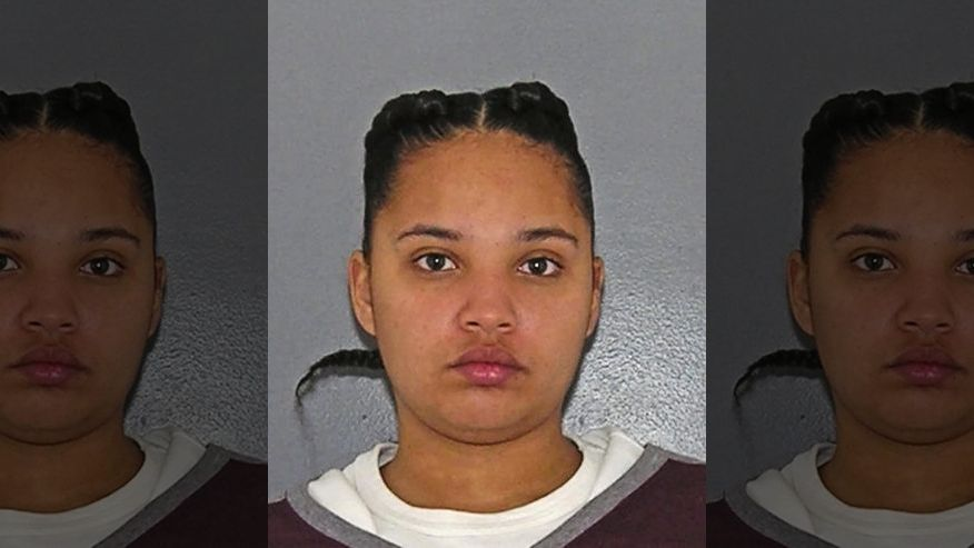 This undated photo provided by the Hamilton County Sheriff's Office in Cincinnati shows Briana Benson indicted Monday, April 10, 2017, on charges that included murder, felonious assault, aggravated vehicular homicide and failure to stop after a crash. Benson, accused of intentionally hitting a woman with her car and dragging her during an argument, is scheduled to appear in court on Thursday, April 13. (Hamilton County Sheriff's Office via AP)
