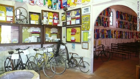 Notre-Dame des Cyclistes in south-west France is another shrine to cycling.