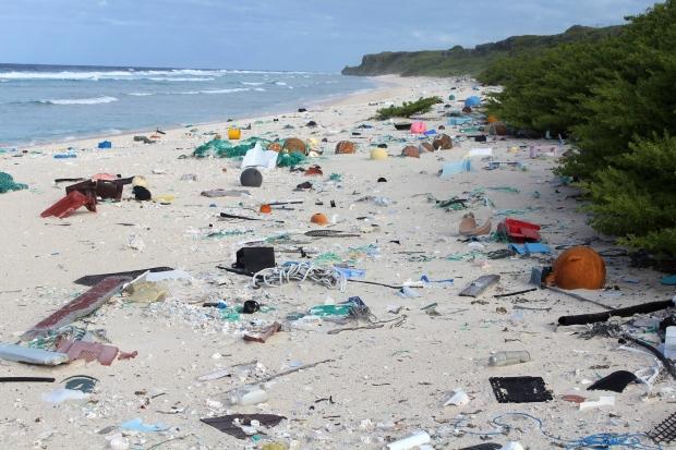 New Zealand Island Trash