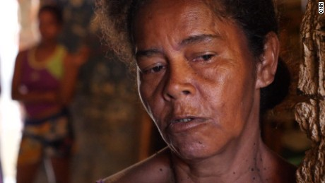 Denis Ester Dias and her husband struggle to provide food for their family.