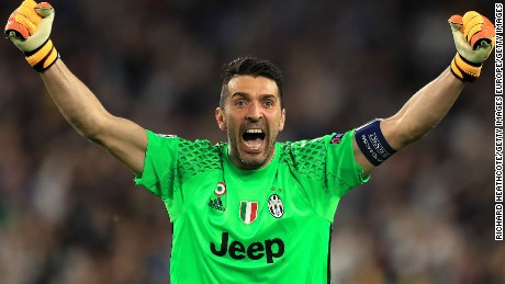 Gianluigi Buffon will appear in his third Champions League final next month.