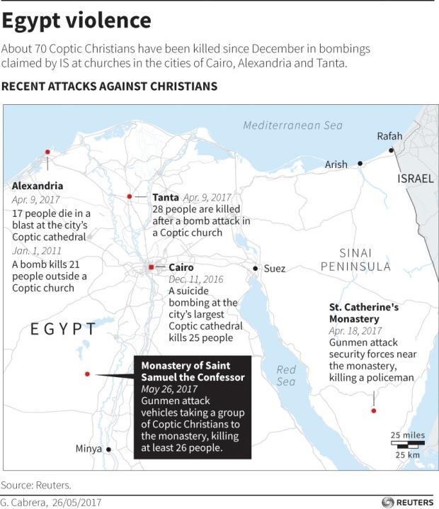 Egypt violence map