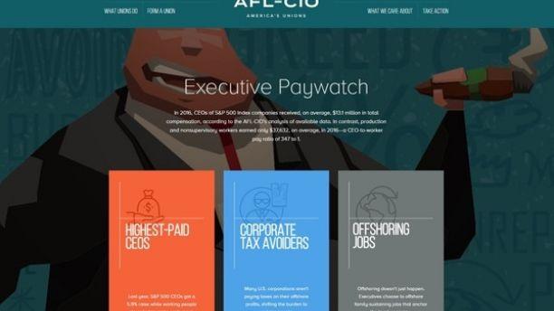 AFL-CIO website frame