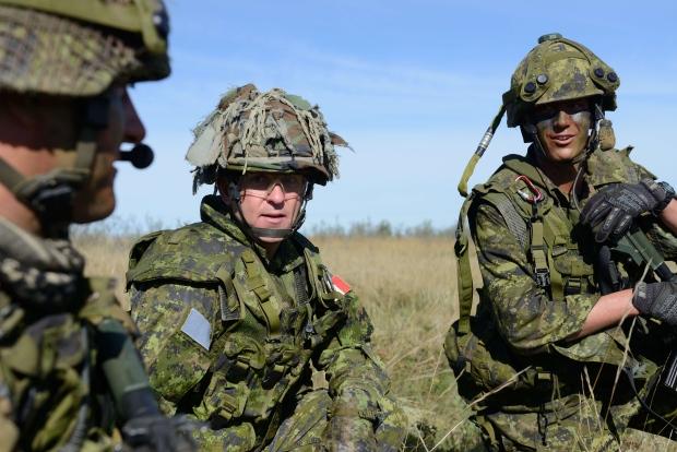 Brig.-Gen. Simon Hetherington. Latvia deployment