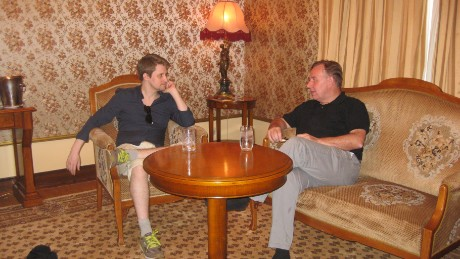 Hong Kong-based defense attorney Robert Tibbo, pictured here with Edward Snowden in Moscow in July 2016.