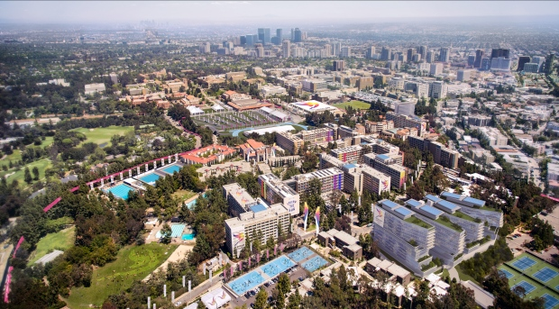 Aerial view of the UCLA Campus