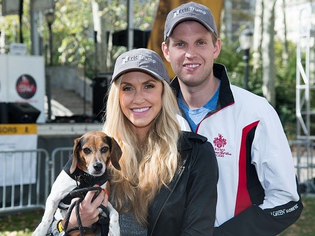 Lara Trump (L) and Eric Trump attend the Elvis Trumps Cancer Walk Benefiting St. Jude Children's Research Hospital at Cadman Plaza on September 26, 2015 in New York City. (Photo by Mark Sagliocco/Getty Images)