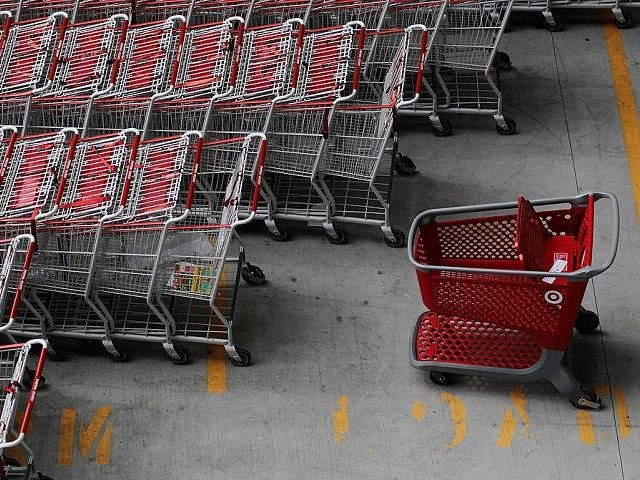 NEW YORK - AUGUST 18: A Target shopping cart (R) stands among other carts in a parking lot outside of Target's new Harlem store August 18, 2010 in New York City. Target Corporation's quarterly earnings rose 14 percent, the company's chief financial officer Douglas Scovanner announced today. (Photo by Chris Hondros/Getty Images)