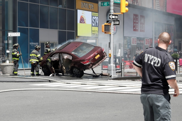 new york times square car