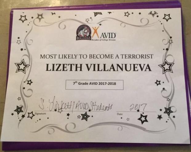 Lizeth Terror Award