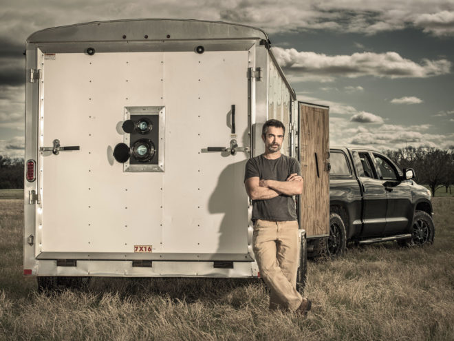This Photographer Converted a Box Trailer Into a Giant Mobile Camera