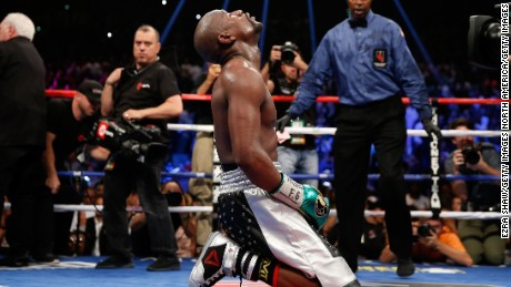 Floyd Mayweather retired after his 49th straight victory, over Andre Berto in September 2015