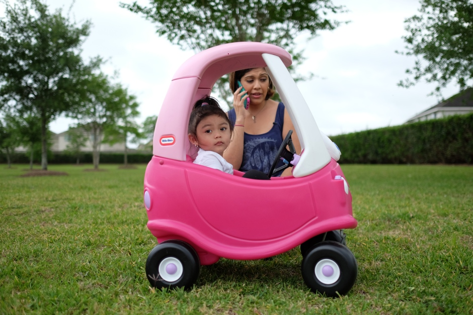 Rose and Carmen with the car
