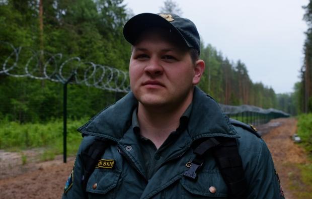 Latvian border guard Dzintars Cunskis