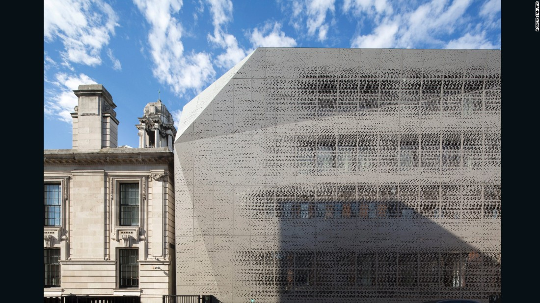 "Singaporean hotelier Loh Lik Peng purchased former Bethnal Green Town Hall, a Grade II historically preserved structure, in 2007 and commissioned <a href=""http://www.r-are.net/"" target=""_blank"">RARE Architecture</a> to transform it into a luxury hotel. A patterned aluminum skin was added to the original structure."