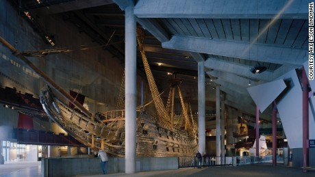 Vasa, a 17th-century Swedish warship, is Stockholm's most famous boat.
