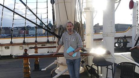 Long-time employee Magnus Frymark, pictured here on board the af Chapman.