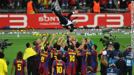 Pep Guardiola was a Barcelona leader as a player and as a coach.
