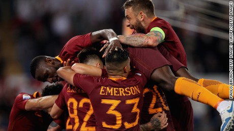 Roma finished second to Juventus last season in Serie A.
