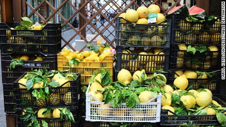 The narrow streets of Vietri are full of the tangy, distinct perfume of lemons.