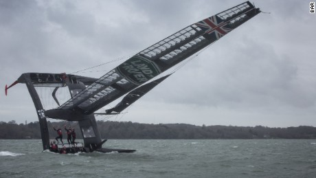 Land Rover BAR capsizes during a training exercise around the Isle of Wight