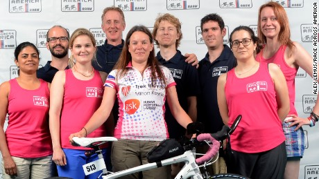 Shusanah Pillinger (front, center) and her team, including Phil Magnus (second from left)