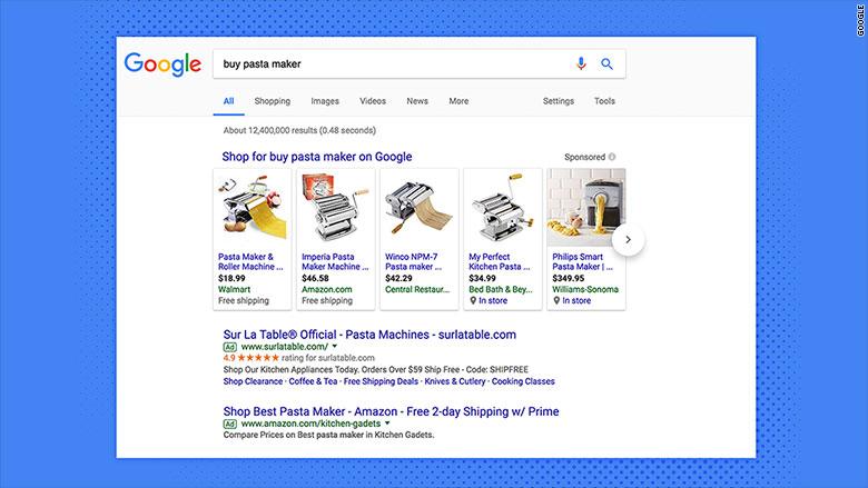 google shopping box