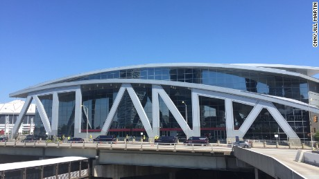 A view of Philips Arena from this week.