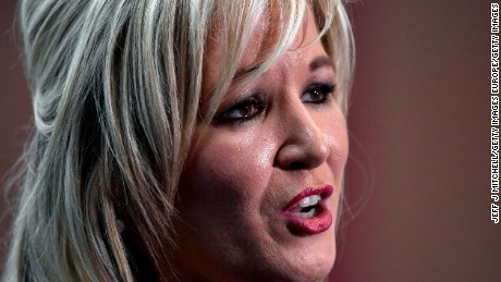 Michelle O'Neill is the leader of Sinn Fein in Northern Ireland.