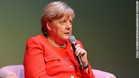 Merkel signaled a softening of her stance at an event Monday.