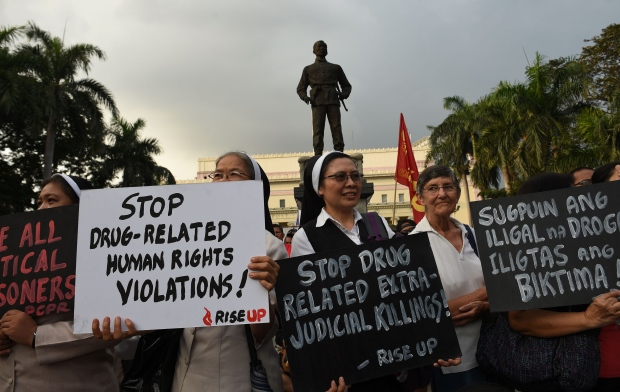 Drug war protest in Philippines